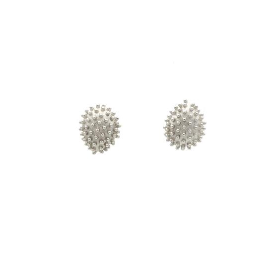 Pendientes Cactus en oro blanco - 0977