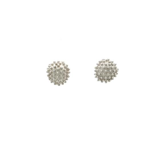 Pendientes Cactus de oro blanco - 0976