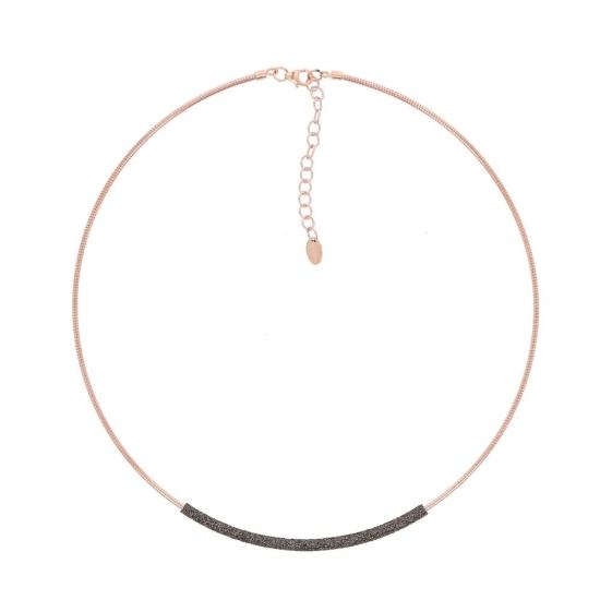 Collar Pesavento dna rosa polvo marrón - WDNAG180 - 1
