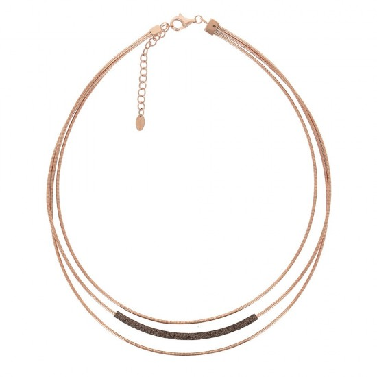 Collar Pesavento dna rosa polvo negro - WDNAG290 - 1