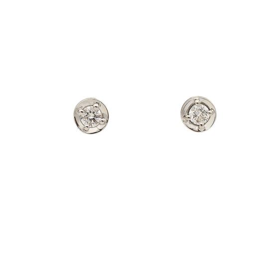 Pendientes de oro y diamantes - 0998 - 1