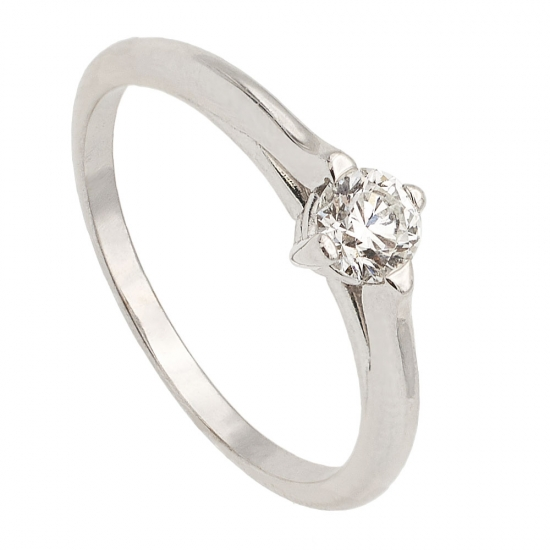 Solitario con diamante - 1140 - 1