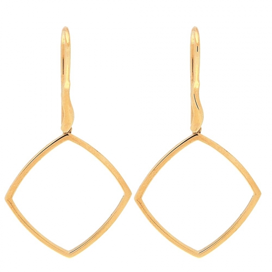 Pendientes de oro en forma de rombo - 1
