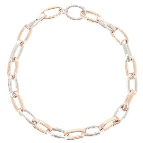 Collar en plata rodiada y oro rosa - WPLVE1810 - 1