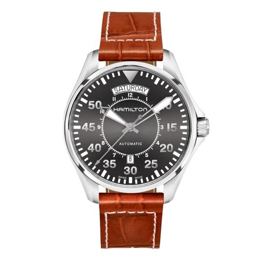 Hamilton Khaki Aviation Pilot Day Date Auto - H64615585 - 1