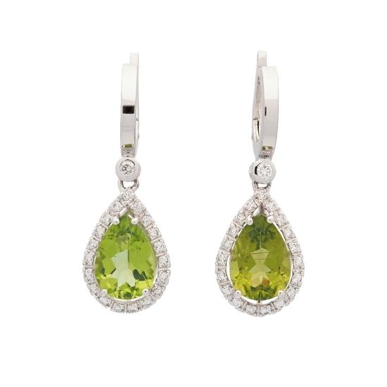 Pendientes de diamantes y peridotos - 1