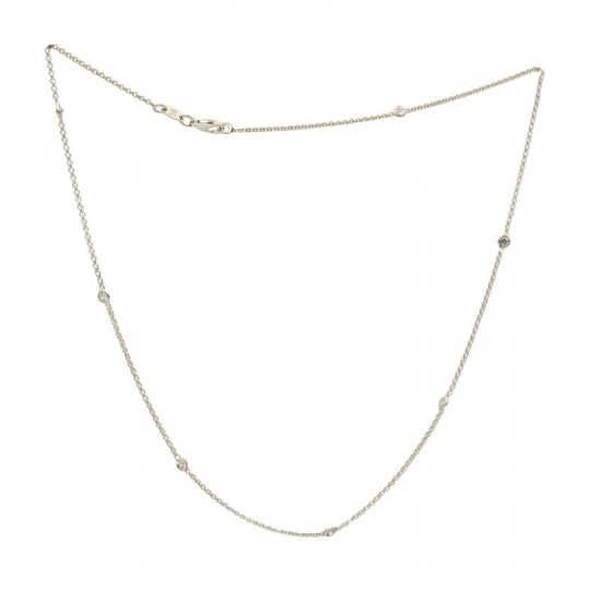 Cadena de plata con circonitas - 1